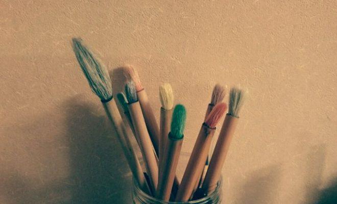 絵手紙の筆