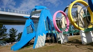 二色の浜公園・海生物遊具