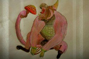 毒テングタケを食べるババコンガ