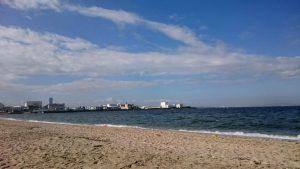 二色の浜公園で海水浴