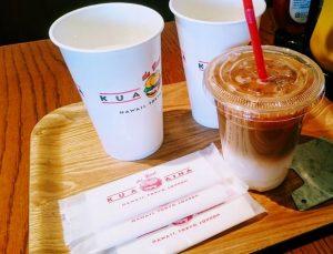 クア・アイナのアイスカフェラテ