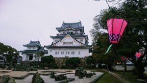八陣の庭と岸和田城