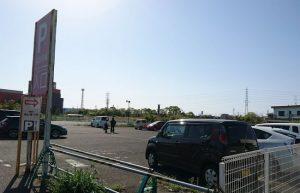 藤まつりの臨時駐車場