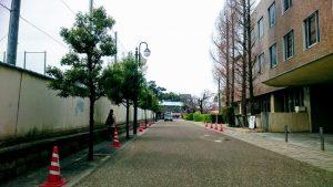 岸和田城の近く