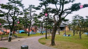 岸和田城の二の丸公園