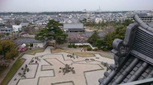 岸和田城の庭園