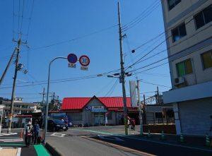 JR阪和線の和泉砂川西出口
