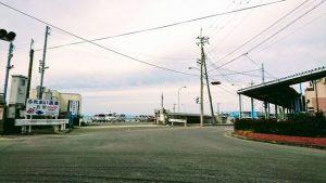 岬町の深日港・入り口