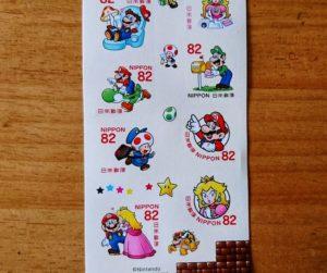 ピーチ姫やキノピオの記念切手