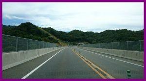 阪南市あたりの第二阪和国道