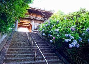 泉南市の長慶寺の正門