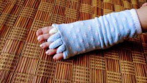健康効果の指穴靴下