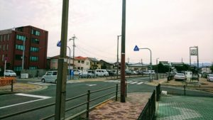 田尻日曜朝市の駐車場