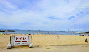 りんくう南浜海水浴場の海岸