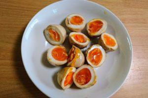 手作り煮卵(味付け)が完成