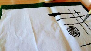 絵手紙の線引き練習