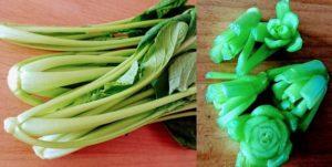 小松菜の断面