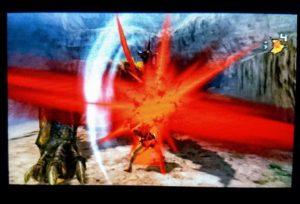 大剣でモンスターを攻撃!