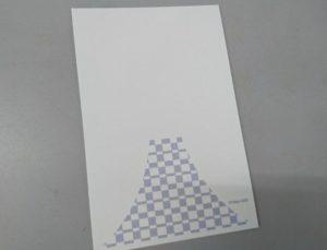 組市松紋の年賀状