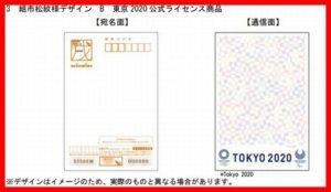組市松紋様デザイン B 東京 2020年賀ハガキ