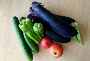 夏野菜のオクラやピーマン