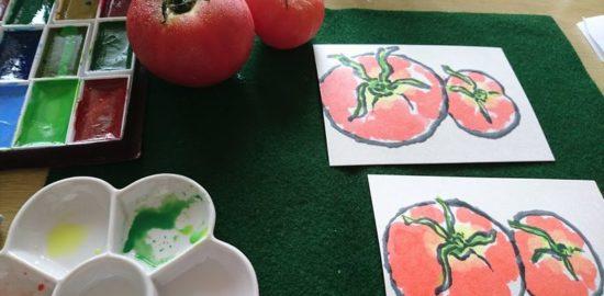 トマトの絵手紙