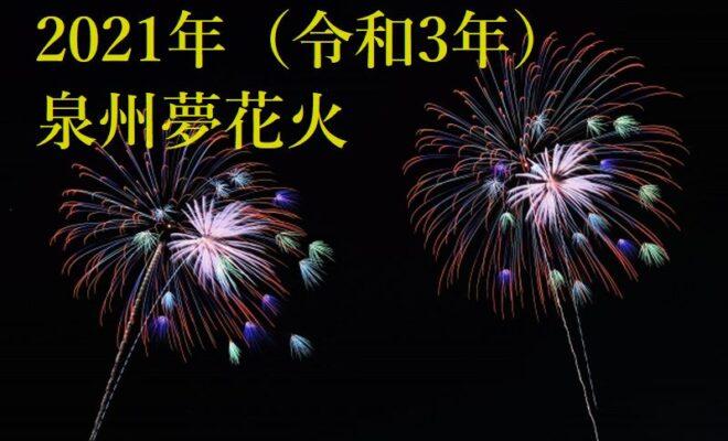 泉州夢花火2021年8/28(土)8/29(日)開催(旧樽井サザンビーチ花火の場所)