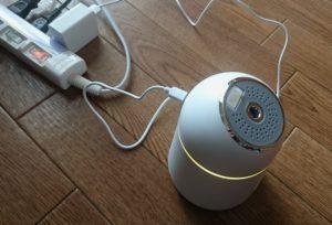 USB給電口の加湿器
