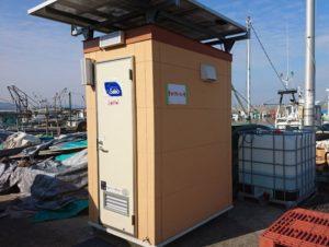 阪南・牡蠣小屋の女子トイレ