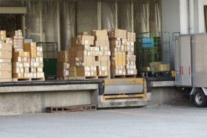 荷物の配送センター