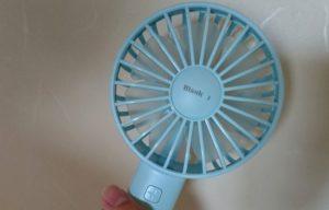 STORM MONSTER -BLANKモデル- ハンディ扇風機ブルー