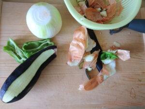調理での野菜ゴミ
